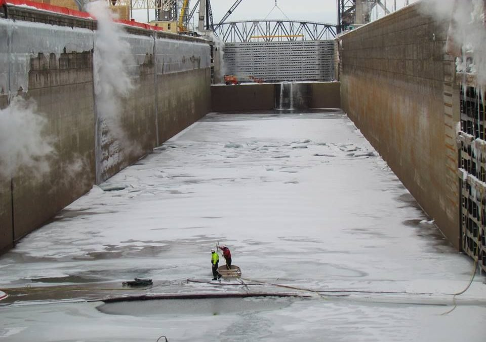 Bond Fluidaire Works with Contractors to Drain the Soo Locks